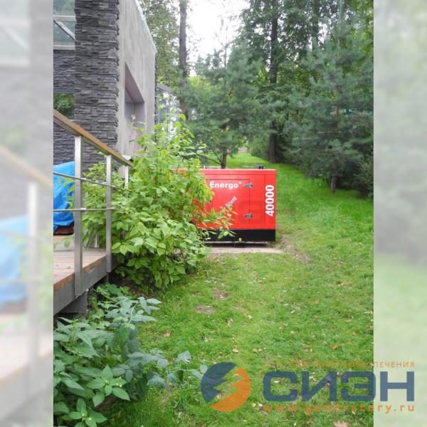 Дизельный генератор Energo (40 кВА, двигатель Yanmar), частный дом, Подмосковье, 2016 год