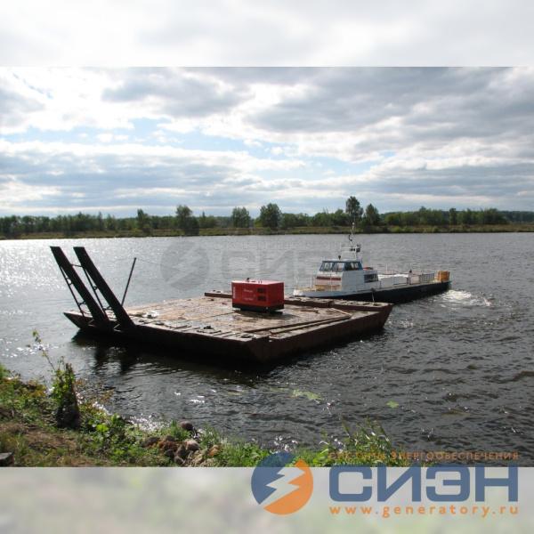 Дизельный генератор Energo (30 кВА, двигатель Yanmar) для частной гостиницы на острове, Дубна, Московское море, 2010 год