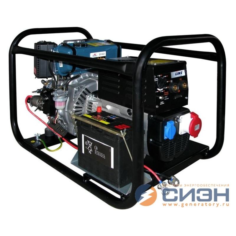 Дизельный сварочный генератор Energo ED 6.5/400-W220RE (мощностью 5,2 кВт)