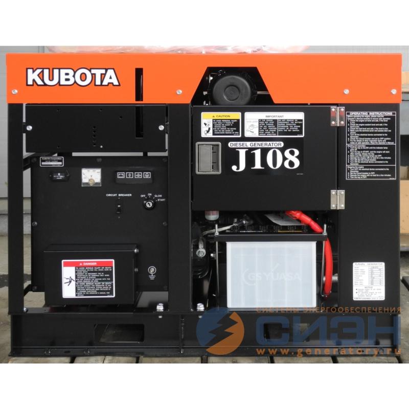 Дизельный генератор Kubota J108