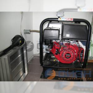 Монтаж бензинового генератора SDMO SH 6000E и АВР Техкам ТКМ V.2