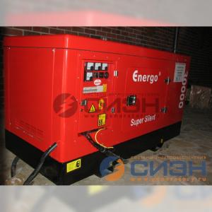 Монтаж дизельного генератора Energo (Genelec) ED 30/400 Y SS на улице (аварийное электроснабжение частного дома)