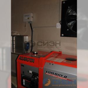 Монтаж генератора Kubota GL6000 (частный дом)
