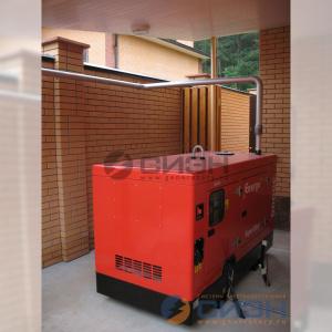 Монтаж дизельного генератора Energo (Genelec) ED 30/400 Y SS и АВР Tecno Elettra
