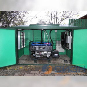 Монтаж бензинового генератора Yamaha EF6600E в миниконтейнере.