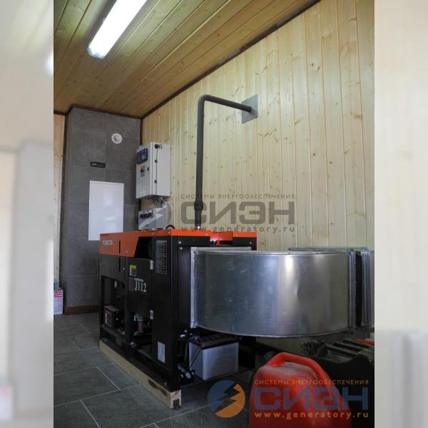 Выхлоп и отвод тепла от дизельного генератора Kubota J112