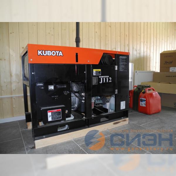 Установка и подключение дизельного генератора Kubota J112 с АВР