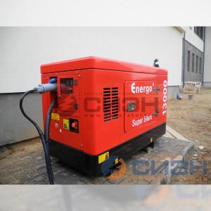 Монтаж дизельного генератора Energo (Genelec) ED 13/230 Y SS на улице (аварийное электроснабжение частного дома)