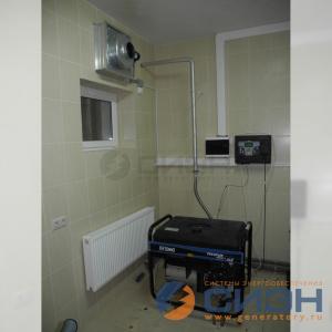 Монтаж бензинового генератора SDMO Technic 10000 E AVR в подсобном помещении