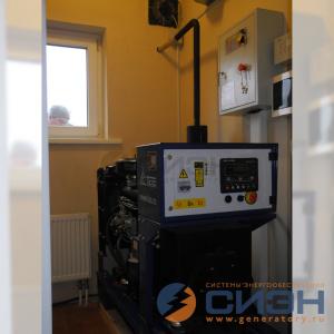 Монтаж дизельного генератора ТСС АД-16C-230 (подсобное помещение, частный дом)