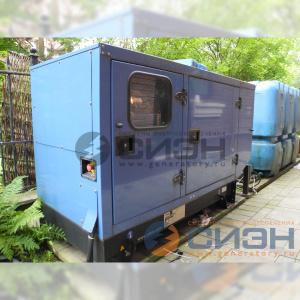 Монтаж дизельного генератора SDMO T33K IV в кожухе с АВР