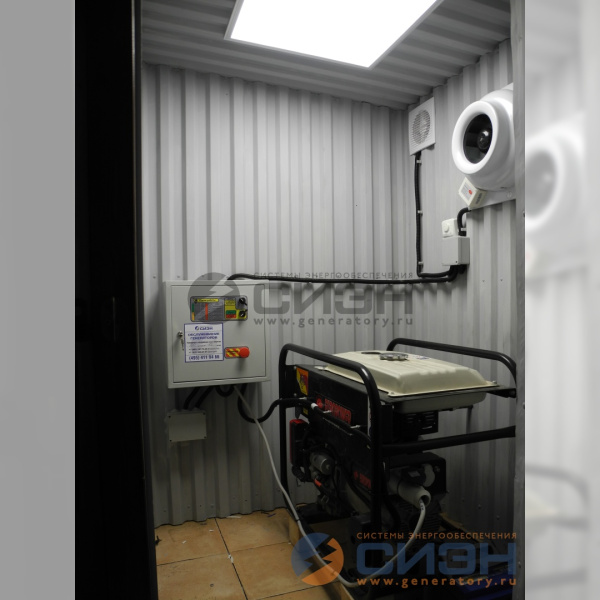 Монтаж бензинового генератора Europower EP 7000 LE с автоматикой