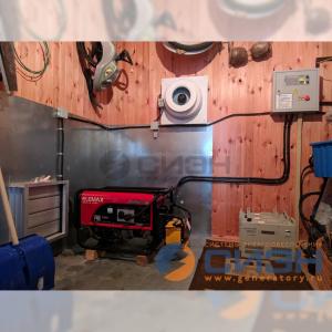Монтаж бензинового генератора Elemax SH 7600 EX-RS с АВР и стабилизаторов напряжения Lider PS 7500 SQ-25 (частный дом)