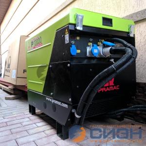 Монтаж бензинового генератора Pramac P12000 AVR с автоматикой в частном доме