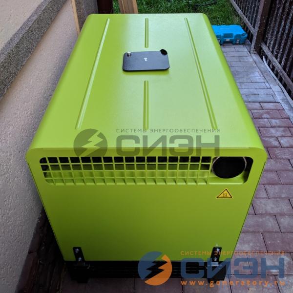 Монтаж бензинового генератора Pramac P12000 в кожухе