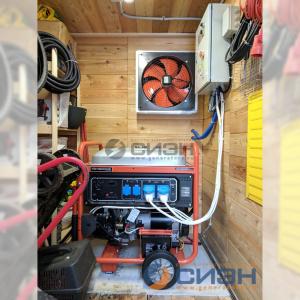 Монтаж бензинового генератора Zongshen PB 12000 E с АВР