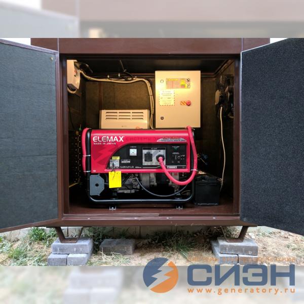 Бензогенератор Elemax SH 7600 EX-RS с автоматикой в кожухе