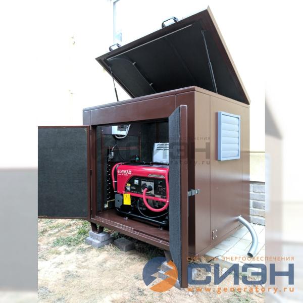 Бензогенератор Sawafuji SH 7600 EX-RS в миниконтейнере