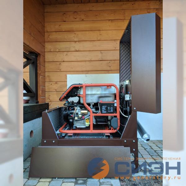 Бензиновый генератор Zongshen KB 9000 E в уличном мини-контейнере