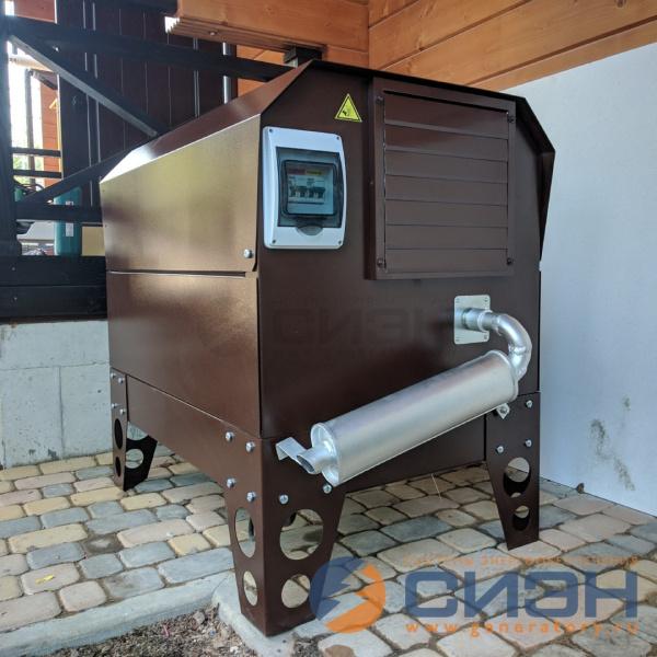 Бензиновый генератор Zongshen KB 9000 E в шумозащитном уличном кожухе